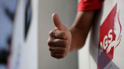 Thumbs up AGS mover