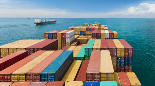 Cargo-ship-containers